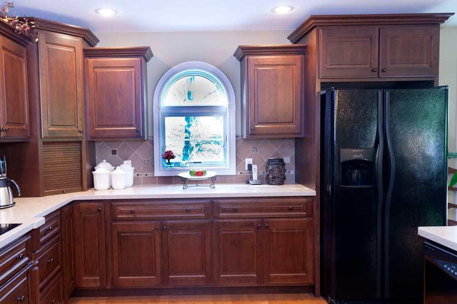Kitchen 2 mettes cabinet corner for Bathroom cabinet 900 x 600